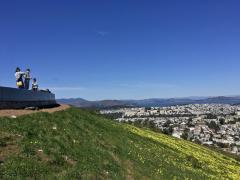 Photo :  Vue à 360° au dessus de San Francisco depuis Twin Peaks