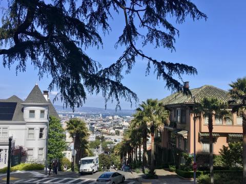 Quartier résidentiel à San Francisco