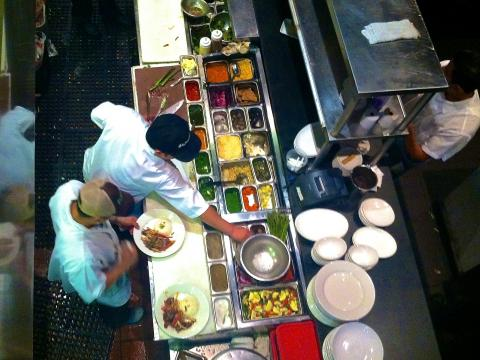 Photo : cuisine ouverte vue du haut