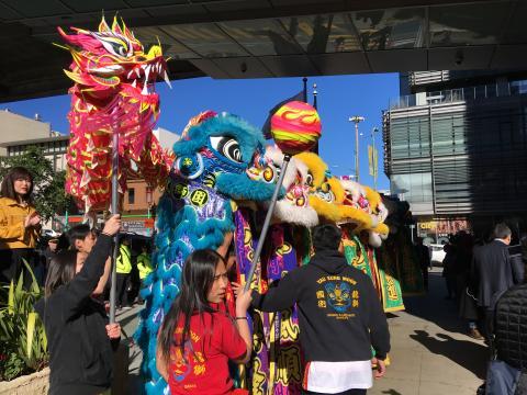 Danse des lions festival Chinatown San Francisco