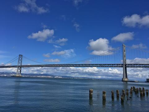 [Photo : La Baie de San Francisco et le Bay Bridge]