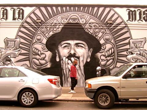 Santana fresque murale San Francisco