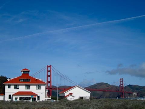 Photo : Golden Gate Bridge depuis Crissy Field
